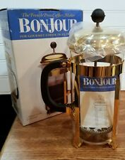 French Press Coffee Maker BonJour Monet Gold Collection 8 Cup Unused