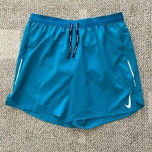 "Mens Nike Flex Stride 7"" Running Shorts Teal Green Size XL Brief AJ7777-379"