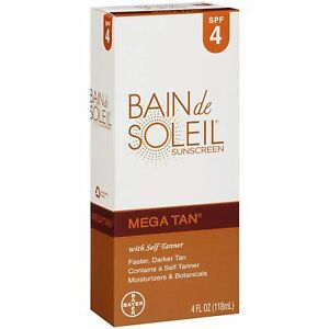 BAIN de SOLEIL Sunscreen Mega Tan Lotion SPF 4 4oz DISCONTINUED