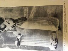 m5-2g ephemera 1912 picture woman fashion tagel hat taffeta silk