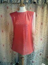 Drag Queen Orange SHORT dress with Glitter sleeves 14/16