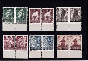 Ö 1947 Kriegsgefangene Paare mit 3 Plattenfehlern Postfrisch ** MNH