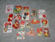 21 different Usa 1940's-1960's Bear Cub Valentines Fun Lot!