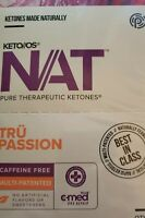 Pruvit Keto OS NAT Ketones Tru Passion Caffeine free 10 Packets Exp 2022