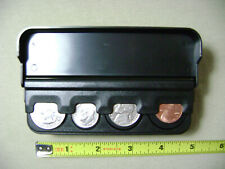 Spring Loaded Black Coin Dispenser for Quarters, Dimes, Nickels, & Pennies (NEW)
