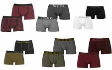 2 Pack Firetrap Mens Trunks Gents Elasticated Waist Band Boxers Shorts Pants