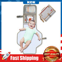 Baby Changing Pad Portable Diaper Changing Wipeable Travel Changing Station Bag