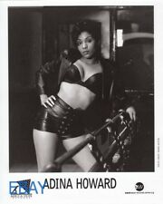 Adina Howard busty sexy in leather VINTAGE Photo