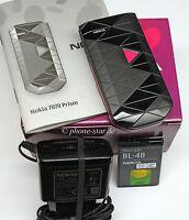 NOKIA 7070 PRISM DESIGN KLAPP-HANDY MOBILE PHONE WAP GPRS BLACK PINK NEU OVP