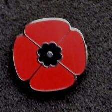 SMALL RED POPPY REMEMBRANCE ENAMEL PIN BADGE BROOCH