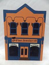 Cat's Meow Village Series Iii - Fine Jewelers - dated 1990 - Euc