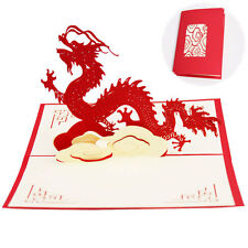 3D Pop Up Greeting Cards Dragon Birthday Thank You Children Gifts Christmas gift