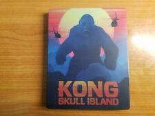 Kong Skull Island 4K 3D STEELBOOK Blu-ray NO Digital UHD Best Buy RARE OOP