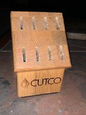 New listing Cutco Wood Table Steak Knife Butcher Block Only 6 Slots Honey Oak