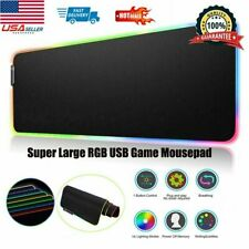 Non-Slip Large Led RGB Mouse Pad XXL Extended Gaming Keyboard Computer Desk Mat