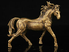China Collectible Handwork Carving Retro Brass Horse Statue