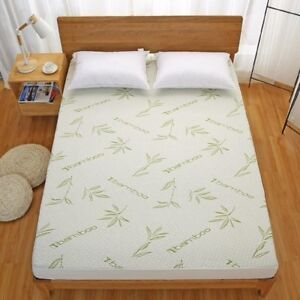 New Bamboo Mattress Protector  Waterproof Cover Pad - Hypoallergenic