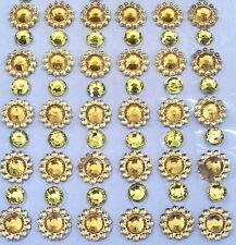 110 STRASS ADESIVI AMBRA 5 mm + FIORE STRASS 8 mm UNGHIE NAILART DECORAZIONI