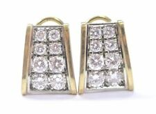 JFA 18Kt Round Brilliant Diamond 2-Row Huggie Earrings 1.75Ct D-E/VVS2