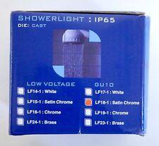 Shower light - Die Cast Satin Chrome - IP65 Rated - GU10 - Low Voltage