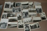Vintage Lot of 25 B&W Family Holiday Home Vacation Themed Photos 1940-60's gp117