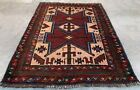 Authentic Hand Knotted Afghan Balouch Pictorial Wool Area Rug 2 x 2 Ft