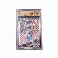 2016Topps High Tek Autographs Red Orbit Difractor Corey Seager RC BGS 9.5 LE 5/5