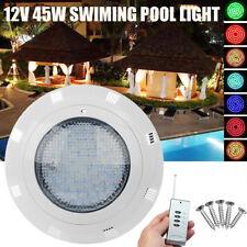 12V 45W RGB Swimming LED Pool Lights Spa Underwater Light IP68 Waterproof Lamp
