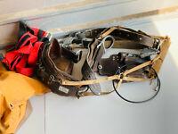 Vintage Klein Lineman Bag w/ Leather Belt Pouches Tools Harness