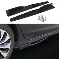 2PCS Universal Side Skirt Extension Blades Rocker Splitter For BMW Audi VW Benz