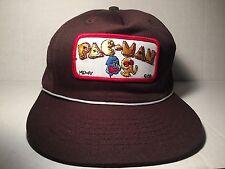 Pac-Man Patch Mesh Trucker Hat Snapback Cap 1981 Brown Vintage