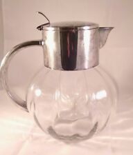 EL Silver Germany Melon Optic Glass Pitcher 64 oz