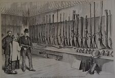 Harper's Weekly, 1876. The Centennial- Arms of All Nations. Wood Engraving.