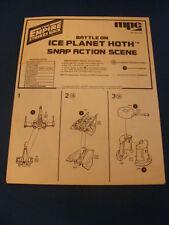 MPC Ice Planet Hoth MODEL  Instructions  ORIGINAL