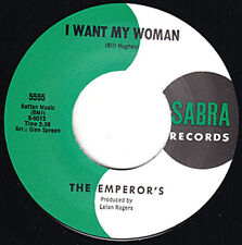 "EMPERORS I Want My Woman SABRA 7"" 45 Re. Perfect 1965 Savage Garage Punk HEAR"
