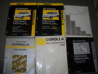 1993 Toyota Corolla Service Repair Shop Manual Set OEM W EWD + FEATURES + MORE