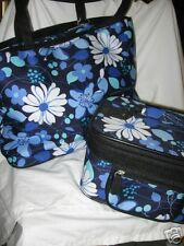 Floral designer inspired 3 pcs travel bag+cosmetic case new w tags
