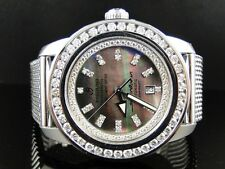 CUSTOM NEW MENS BREITLING SUPEROCEAN HERITAGE DIAMOND MESH BAND WATCH 7.75 CT