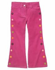 GYMBOREE NWT ALL ABOUT BUTTONS CORDUROY FLOWER PANTS 12