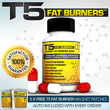 T5 FAT BURNERS CAPSULES -STRONGEST LEGAL SLIMMING - TOP DIET & WEIGHT LOSS PILLS