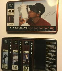 9 TIGER WOODS NIKE GOLF BALLS* Day 1+2+3*2000 U S OPEN Pebble Beach *New In Box