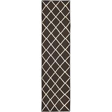 Safavieh Brown/ Ivory Flat weave Wool 2' 6 x 8' Runner