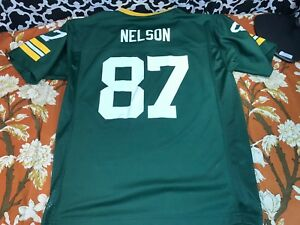NFL Team Apparel Green Bay Packers #87 Jordy Nelson YOUTH Jersey - Sz. L (14-16)