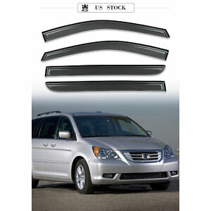 Window Visor Sun Rain Guards Dark Smoke, 4-Piece Set for 08-10 HONDA ODYSSEY