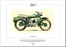 GREEVES 20D - Motor Cycle Fine Art Print - 200cc 2-stroke single - Villiers 8E