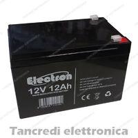 Batteria ermetica ricaricabile al Piombo 12V Volt 12Ah ideale per bici elettrica