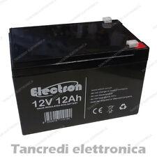 Batteria Ermetica Ricaricabile al Piombo 12V Volt 12Ah con connettore Faston