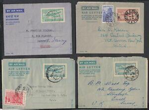 India 1950- Lot of 4 Postal stationary on Aerogramme ........(VG) MV-10210