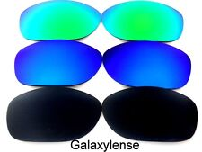 Galaxy Replacement Lenses For Oakley Pit Bull Black&Blue&Green Polarized 3Pairs