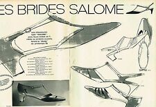 Publicité advertising 1965 (2 pages) Les chaussures salomé à brides